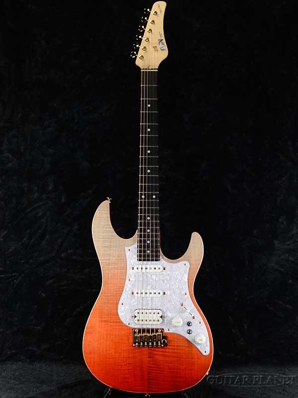 FUJIGEN EOS-FM-R RKG 新品[フジゲン,富士弦,FgN][国産][Red,レッド,赤][Stratocaster,ストラトキャスタータイプ][Electric Guitar,エレキギター][動画]