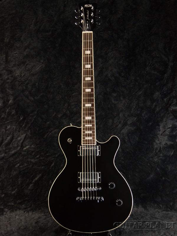 FgN(FUJIGEN) JFL-HH BK 新品[フジゲン,富士弦][国産][J-Standard,スタンダード][セイモアダンカン搭載][Black,ブラック,黒][Les Paul,LP,レスポールタイプ][Electric Guitar,エレキギター]