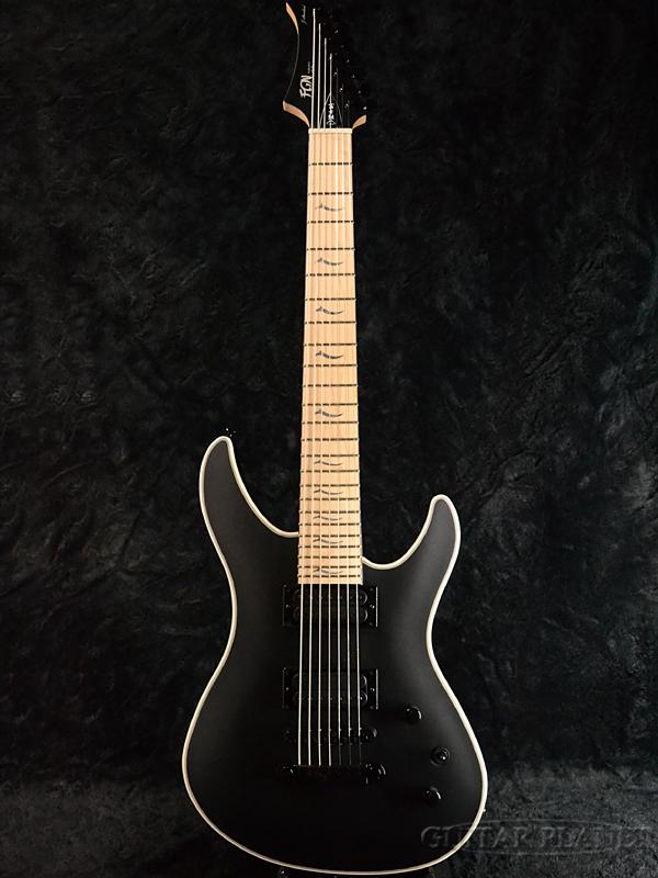FgN JMY7-AL-M MBK 新品[フジゲン,富士弦][国産][7strings,7弦][ストラトキャスタータイプ][ブラック,黒][Electric Guitar,エレキギター]