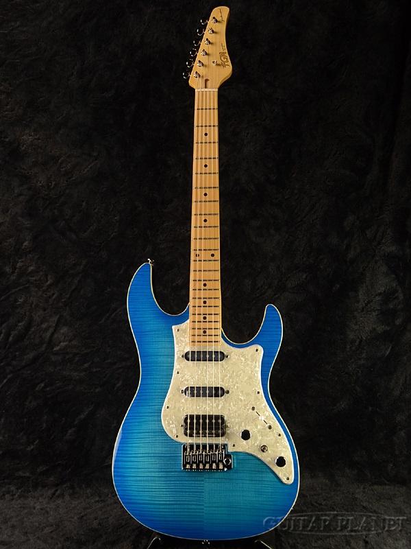 FUJIGEN JOS-FM-M OBT 新品[フジゲン,富士弦,FgN][国産][Blue,ブルー,青][ストラトキャスタータイプ][Electric Guitar,エレキギター]