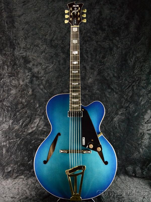 FUJIGEN MFA-FP BBT 新品[フジゲン,富士弦,FgN][国産][マスターフィールド][Blue,ブルー,青][フルアコ][エレキギター,Electric Guitar]