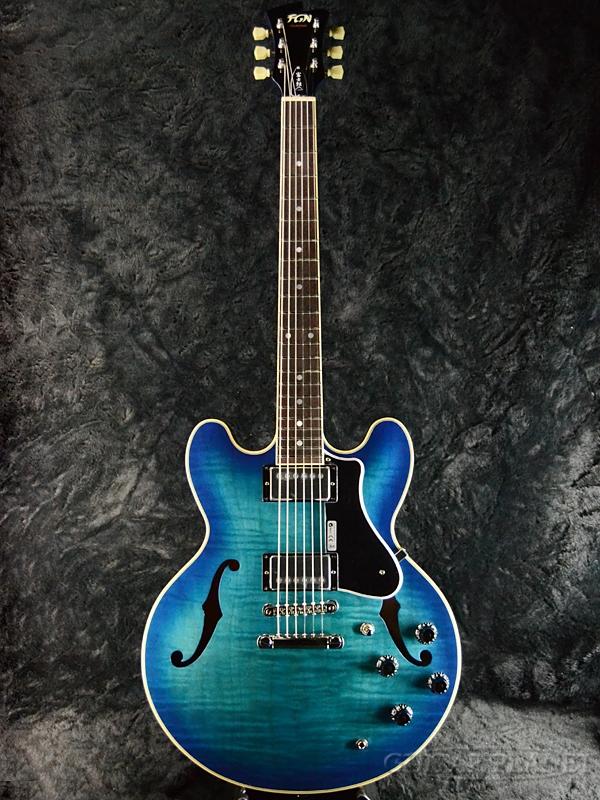 FUJIGEN MSA-HP BPP 新品[フジゲン,富士弦,FgN][国産][Blue,ブルー,青][セミアコ][Electric Guitar,エレキギター]