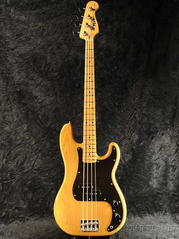 FgN NPB10MAH -Vintage Natural- 新品[フジゲン,富士弦][国産][Precision Bass,プレシジョンベース,プレベ][ビンテージナチュラル,黄,木目][Electric Bass,エレキベース]