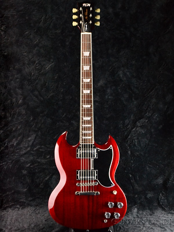 FgN NSG100 CH 新品[FUJIGEN,フジゲン,富士弦][国産][Cherry,チェリー,Red,レッド,赤][SG,エスジータイプ][エレキギター,Electric Guitar]