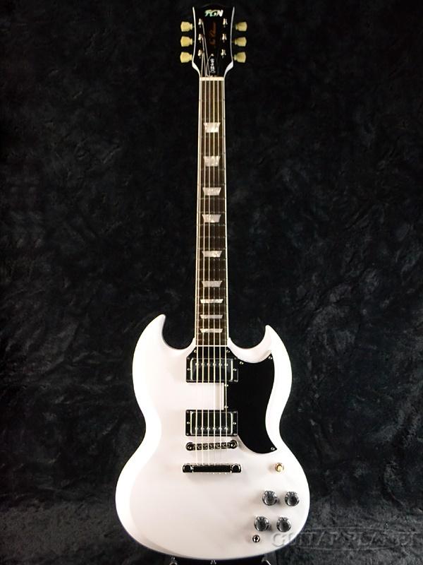 FgN NSG100 SWH 新品[FUJIGEN,フジゲン,富士弦][国産][Snow White,スノーホワイト,白][SG,エスジータイプ][エレキギター,Electric Guitar]