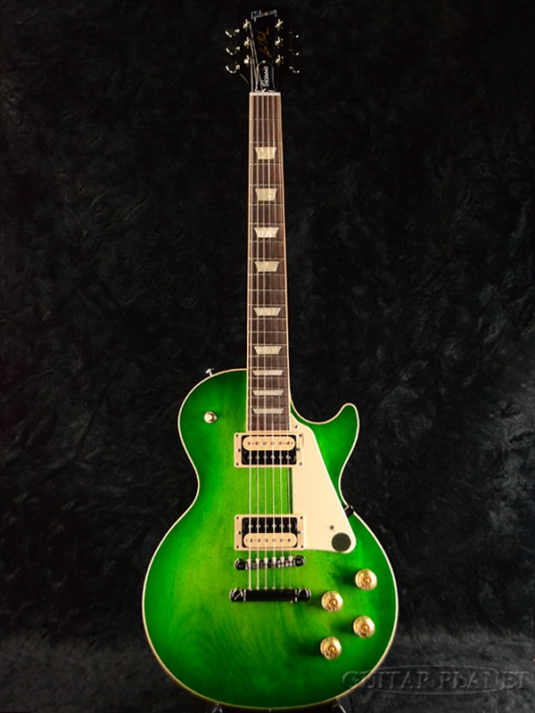 Guitar Planet Brand New Gibson Les Paul Classic 2017 Green Ocean