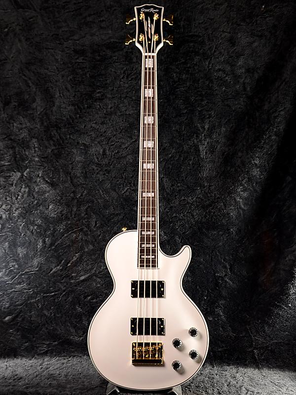 GrassRoots G-LB-52CC新货白[玻璃杯根][ESP名牌][Les Paul,莱斯·保罗基础][White,白][Electric Bass,电子吉他基础]