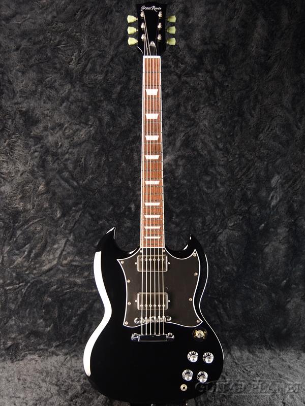 GrassRoots G-SG-55L BK 新品[グラスルーツ][ESPブランド][SGタイプ][Black,ブラック,黒][Electric Guitar,エレキギター]