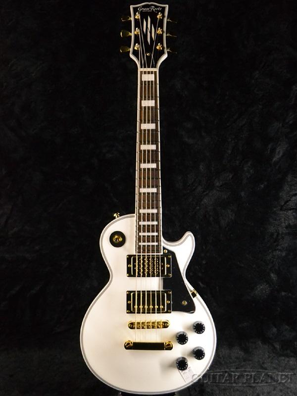 GrassRoots Mini Series G-LPC-MINI White 新品[グラスルーツ][Custom,カスタム][ホワイト,白][ミニギター][スピーカー内蔵][Les Paul,レスポールタイプ][Electric Guitar,エレキギター]