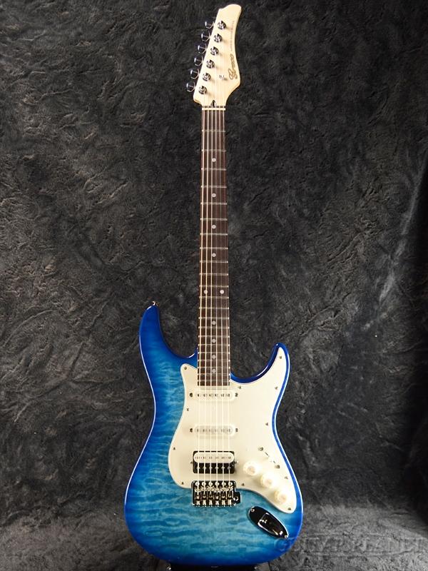 【ERNIE BALL4点セット付】Greco WS-STD QT SSH AQB/Rosewood 新品[グレコ][国産][Blue,ブルー,青][Stratocaster,ストラトキャスタータイプ][Electric Guitar,エレキギター]
