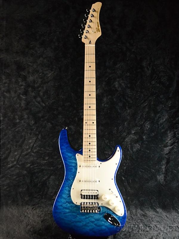 【ERNIE BALL4点セット付】Greco WS-STD QT AQB/Maple 新品[グレコ][国産][Blue,ブルー,青][Stratocaster,ST,ストラトキャスタータイプ][Electric Guitar,エレキギター]