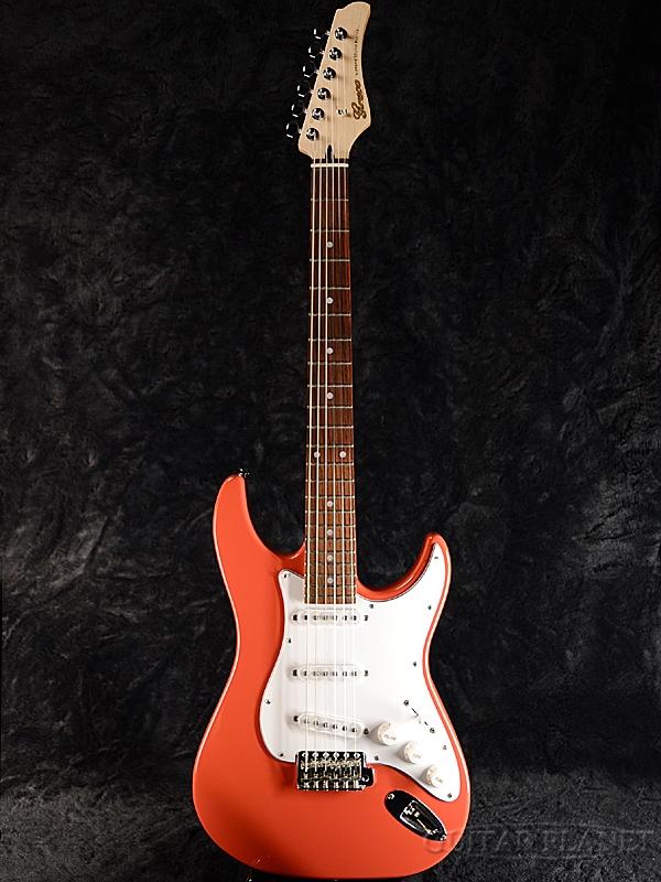 【ERNIE BALL4点セット付】Greco WS-STD Vermillion/Rosewood 新品 [グレコ][国産][バーミリオン,オレンジ][Stratocaster,ST,ストラトキャスタータイプ][Electric Guitar,エレキギター]