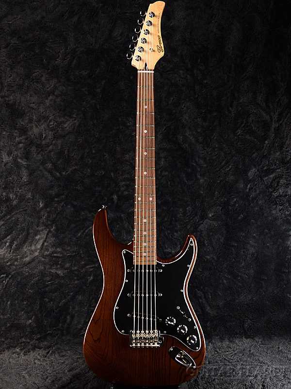 【ERNIE BALL4点セット付】【限定生産】Greco WS-STD/ASH Walnut 新品[グレコ][国産][アッシュ][ウォルナット,茶][Stratocaster,ST,ストラトキャスタータイプ][Electric Guitar,エレキギター]