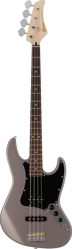 Greco WSB-STD Metallic Gray/Rosewood 新品[グレコ][国産/日本製][Standard,スタンダード][メタリックグレイ,灰,黒][Jazz Bass,JB,ジャズベースタイプ][Electric Bass,エレキベース]