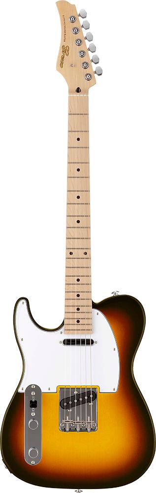 【ERNIE BALL4点セット付】Greco WST-STD/LH Sunburst/Maple 新品[グレコ][国産][Left hand,左用,左利き,レフトハンド,レフティー][サンバースト][Telecaster,TL,テレキャスタータイプ][Electric Guitar,エレキギター]