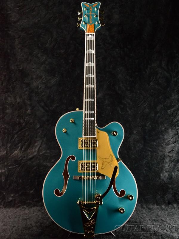 Gretsch G6136TTV-FSR OCT JR Falcon Jr-Ocean Turquoise- 新品[グレッチ][Ken Yokoyama,横山健][ファルコンジュニア][オーシャンターコイズ,ブルー,青][フルアコ/ホロウ][Electric Guitar,エレキギター]