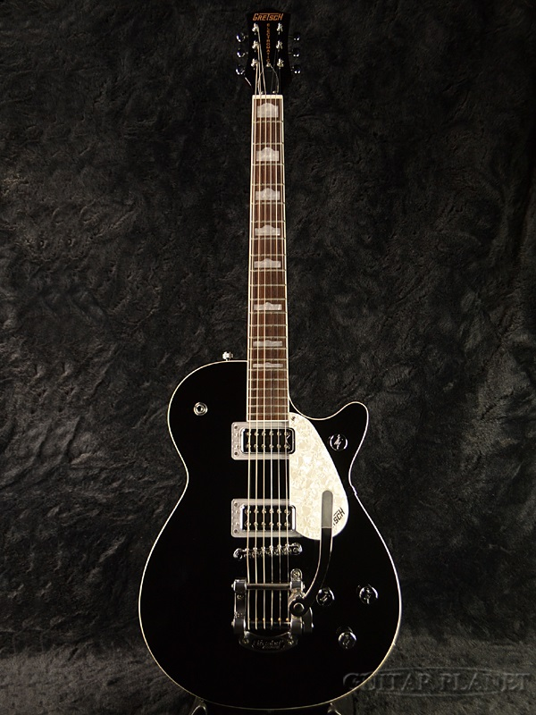 电控自动由 Gretsch G5435T 临射流 w/比格斯比新 [Gretsch] 和 [电马 TIC] [捷特] [配比格斯比臂] [黑,黑,黑] [电吉他、 电吉他]