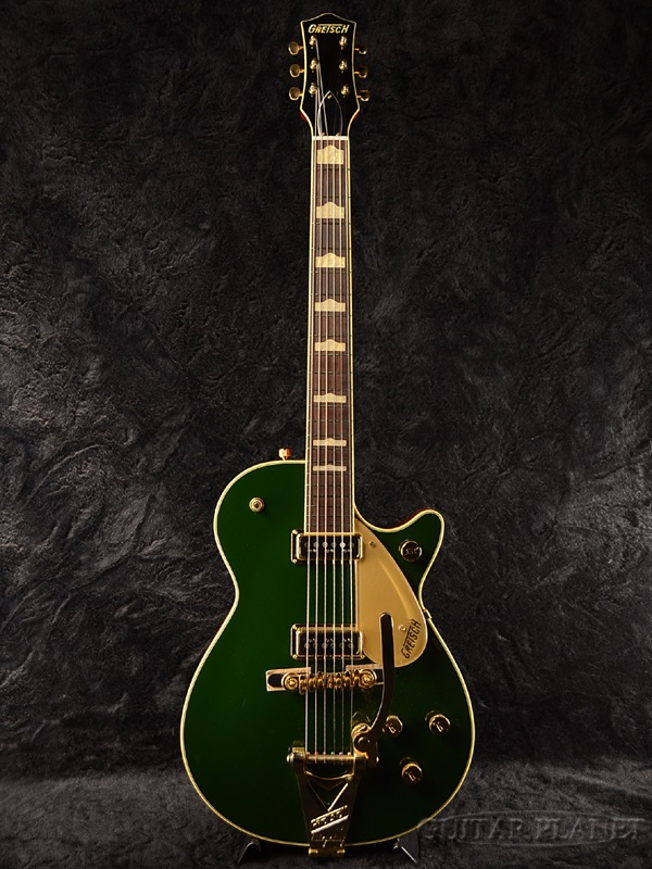 G6128TCG Cadillac Duo Gretsch Green Guitar,エレキギター] Jet 新品[グレッチ][デュオジェット][ダイナソニックPU搭載][キャディラックグリーン,緑][セミホロウ][Electric
