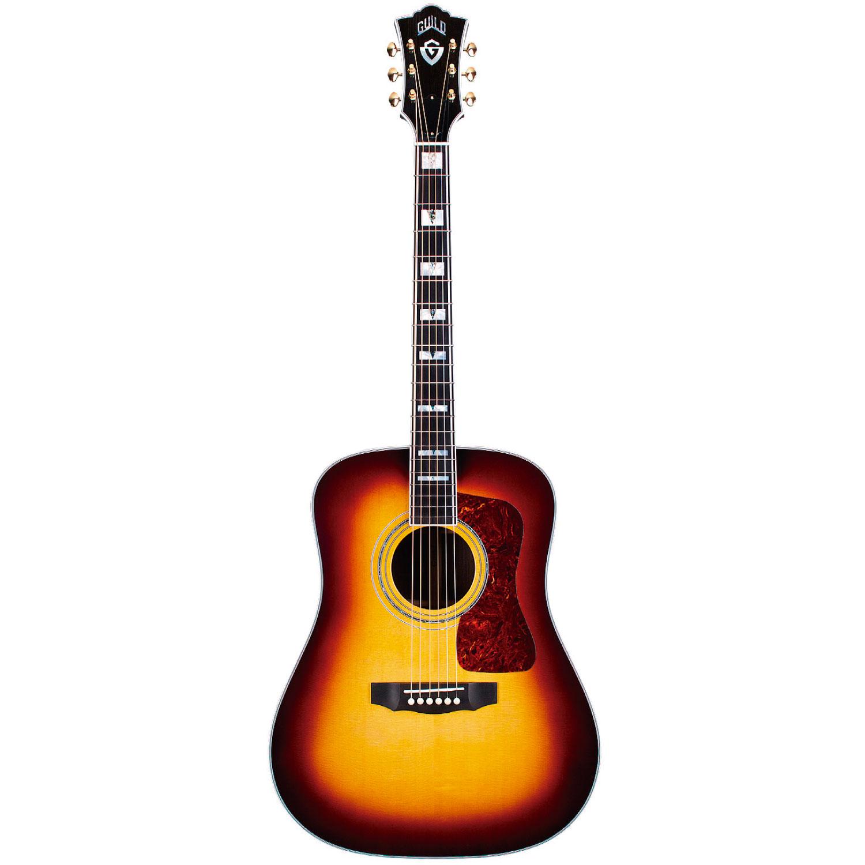 Guild D-55E Antique Burst(ATB) -Guild USA- 新品[ギルド][ドレットノート][Sunburst,アンティークバースト,サンバースト][Electric Acoustic Guitar,アコースティックギター,エレアコ]