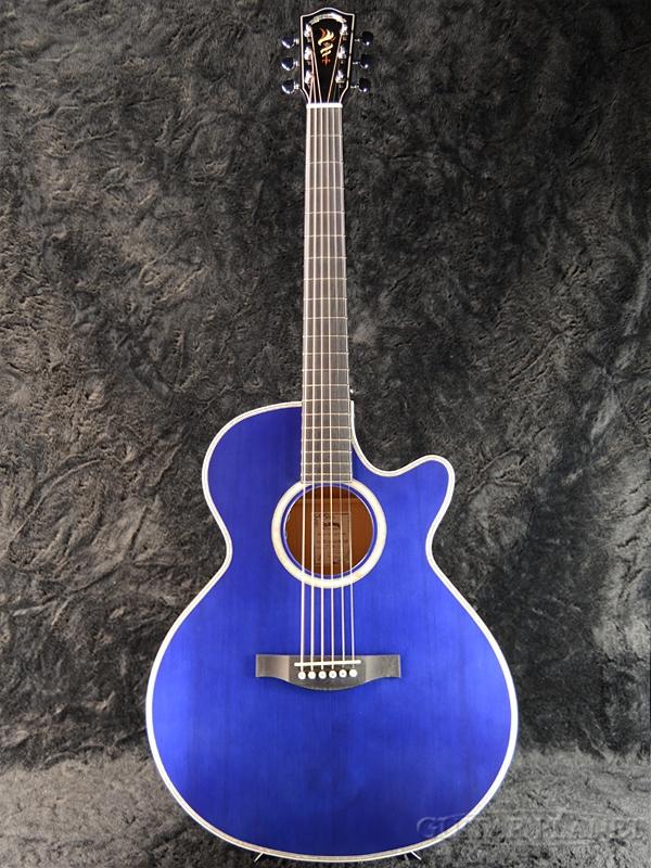 Headway Japan Tune-up Series HSJ-5115SE/FM Trans Deep Blue 新品[ヘッドウェイ][ジャパンチューン][ピックアップ搭載][トランスディープブルー,青][Acoustic Guitar,アコギ,アコースティックギター,Folk Guitar,フォークギター]