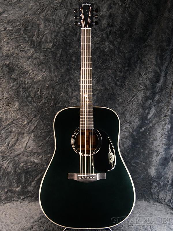 【限定4本!】Headway Aska Team Build HD-JET BLACK DX【漆黒×天の川】新品[ヘッドウェイ][Black,ブラック,黒][Acoustic Guitar,アコギ,アコースティックギター,Folk Guitar,フォークギター]