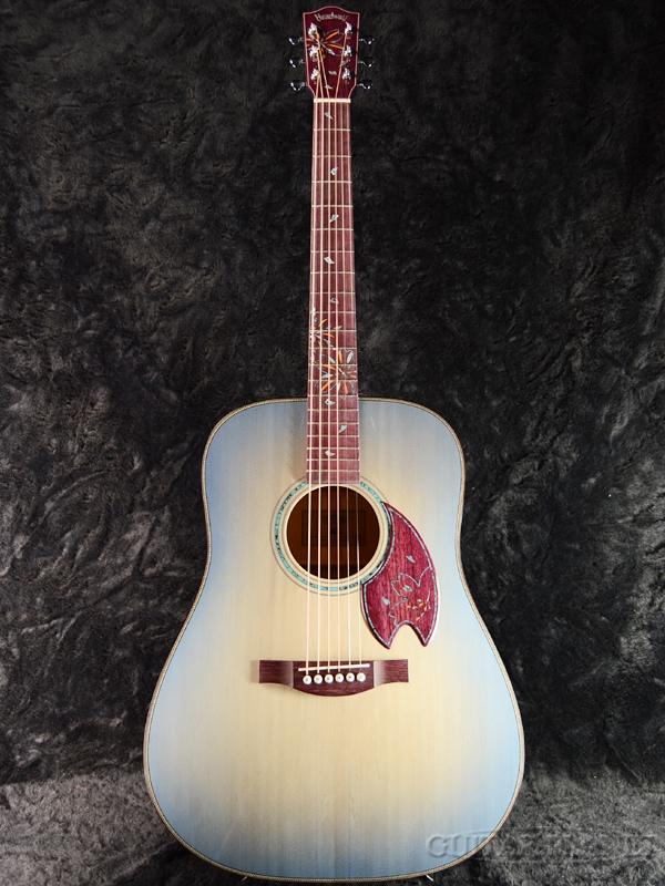 【限定12本】Headway Aska Team Build HD-SAKURA'18 Summer 新品[ヘッドウェイ][国産/日本製][桜,サクラ][花火][ブルーバースト,青][Acoustic Guitar,アコースティックギター,アコギ,Folk Guitar,フォークギター]