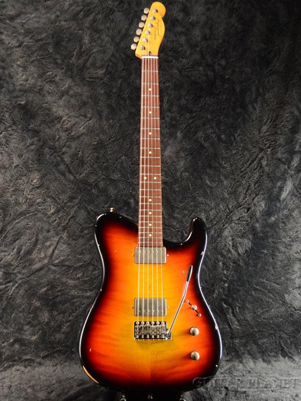 【日本初上陸!!】Tausch Electric Guitars 665 RAW DELUXE -3 Tone Sunburst-【当店カスタム品】新品[ライナータウシュ][デラックス][サンバースト,木目][Telecaster,テレキャスタータイプ][Electric Guitar,エレキギター]