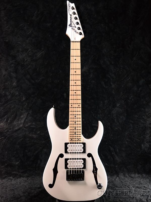 Ibanez Paul Gilbert Signature miKro PGMM31-WH 新品[アイバニーズ][ポールギルバート][マイクロシリーズ][White,ホワイト,白][Stratocaster,ストラトキャスタータイプ][ミニギター][Electric Guitar,エレキギター]