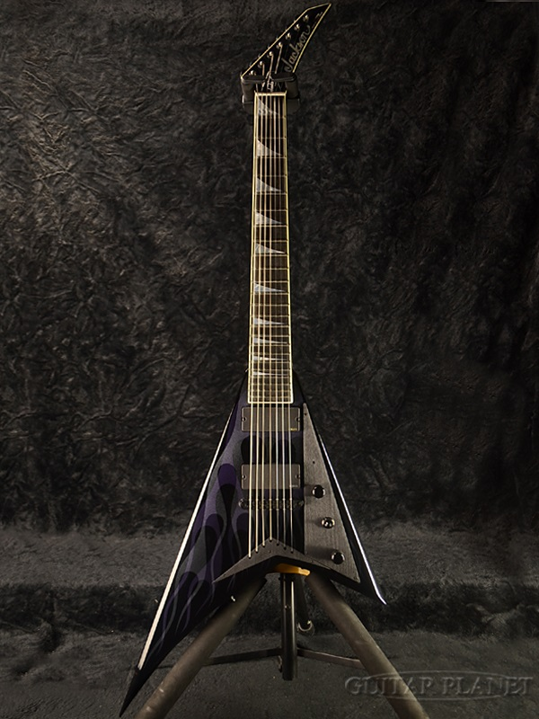 Jackson USA Custom Shop RR24 7st Black Ghost Flame Master Built By Mike Shannon New Shops Mikeshannon Frame