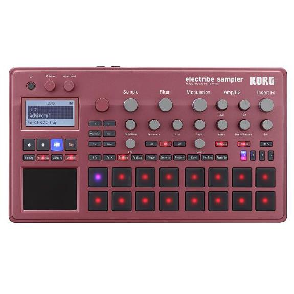 KORG electribe sampler ELECTRIBE2S-RD 新品 シーケンサー/サンプラー[コルグ][エレクトライブ2][Red,レッド,赤][ミュージックプロダクションステーション][Sampler/Sequencer]