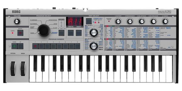 【数量限定カラー】KORG microKORG PT 新品 37鍵盤[マイクロコルグ][アナログシンセ][Platinum,プラチナム][ボコーダー][37key]