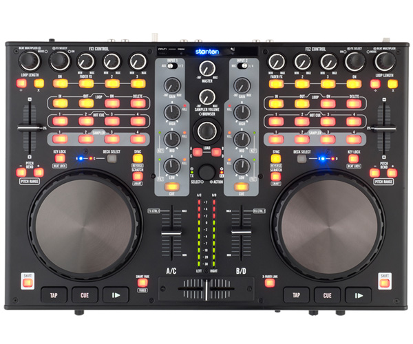 Stanton DJC.4新货数码DJ控制器[斯坦顿][DJ粉碎器][转盘][音频接口内置][Digital DJ/Controller]