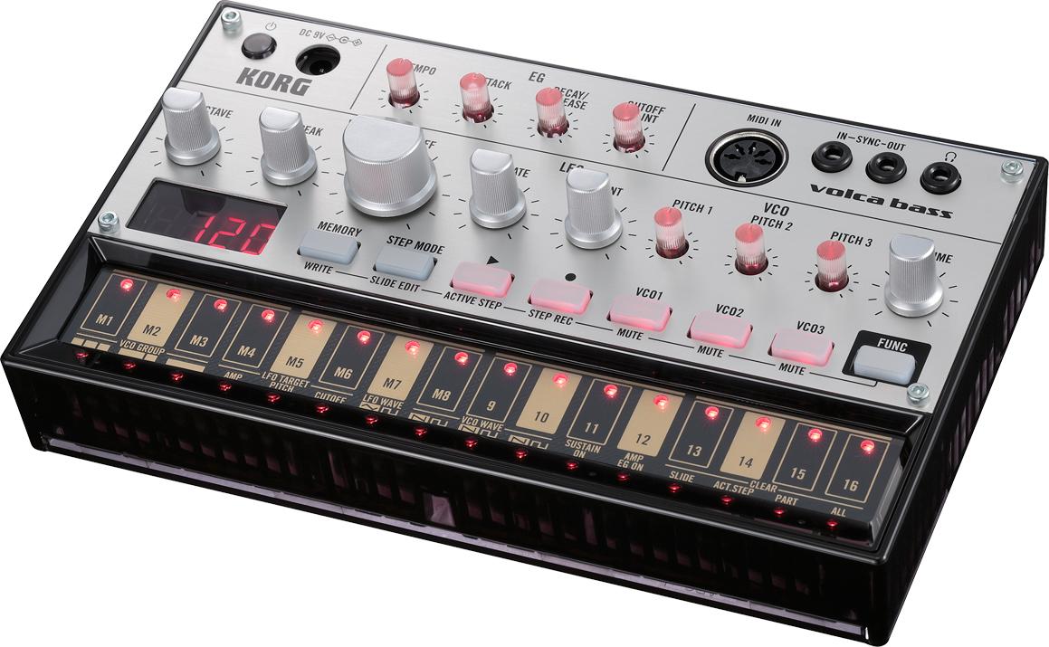 KORG volca bass 新品 Analogue Bass Machine[コルグ][ボルカベース][アナログベースマシン][シーケンサー][アナログシンセサイザー]