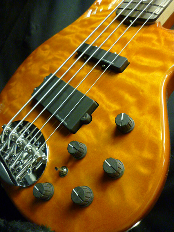 Lakland SK-5 Deluxe T.AMB/R アンバー 新品 SK-5DX [レイクランド][デラックス][5弦,5-string][Amber,琥珀,黄][エレキベース,Electric Bass]