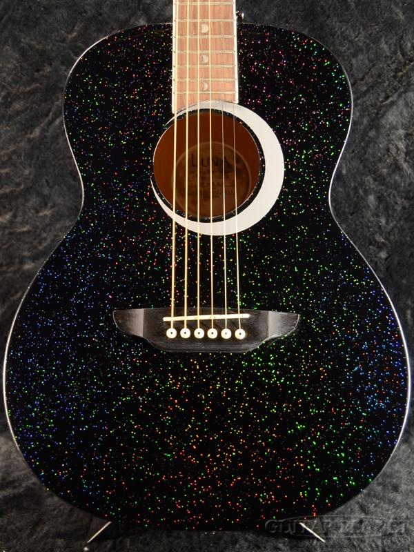 7fc9b419d5 ... Luna Guitars Aurora Borealis 3/4 Guitar Black Pearl new article [luna  guitars] ...