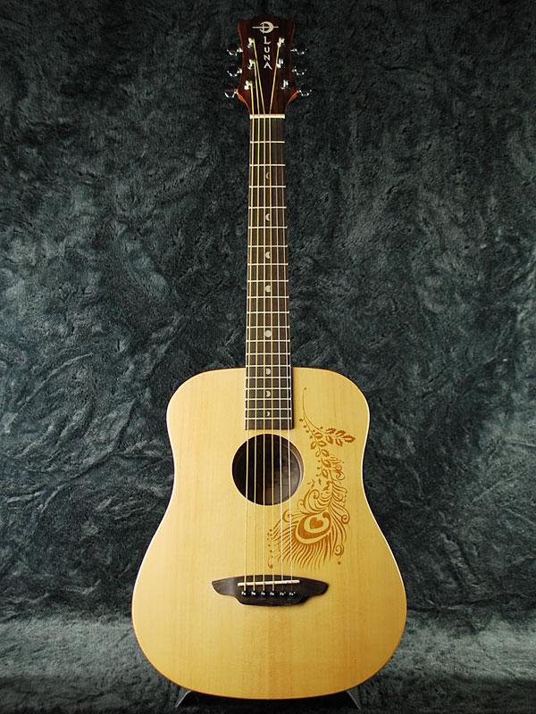 Luna SAF HEN 新品 ナチュラル[ルナ][サファリ][ヘナ,羽][Safari Henna][Natural][Spruce][Mini Guitar,ミニギター][アコギ,アコースティックギター,Acoustic Guitar]