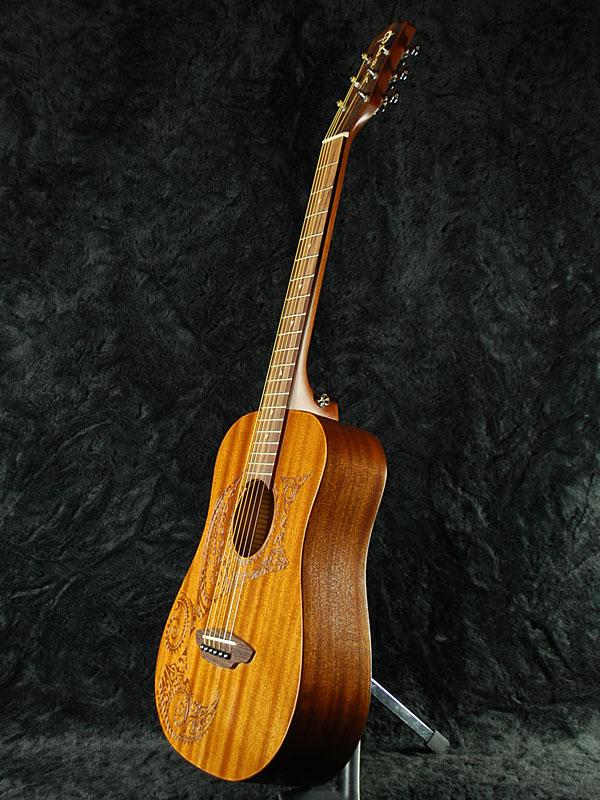 Luna SAF TATOO new [Luna] [Safari, SAFARI] [tattoo] [Mahogany, Mini Guitar, autographed [acoustic guitar, acoustic guitar, Acoustic Guitar,
