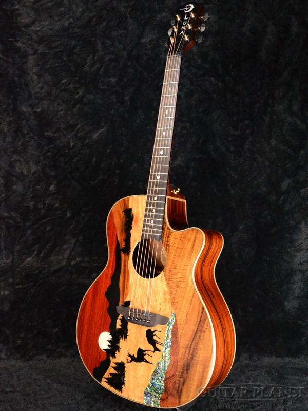 f31daf8858 ... Luna Guitars Vista Deer Tropical Wood A/E new article [luna] [natural  ...