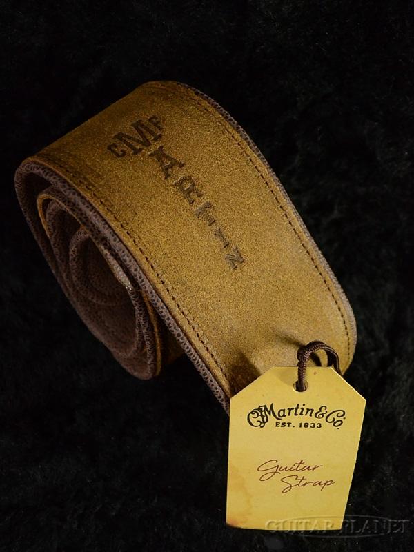 Martin Premium Rolled Leather Strap #18A0030 Distressed レザーストラップ[マーチン][革][ギター/ベース用]