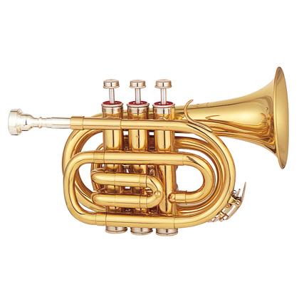 MAXTONE TM-100L 新品 ポケットトランペット[マックストーン][Gold][Pocket Trumpet,ミニ][金管楽器]