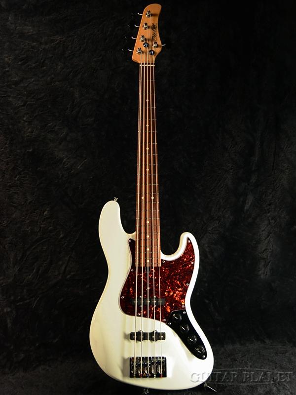 【中古】Mike Lull M5V -Olympic White- 2018年製【34inch Scale】[マイクルル][オリンピックホワイト,白][Jazz Bass,JB,ジャズベース][Electric Bass,エレキベース]【used_ベース】