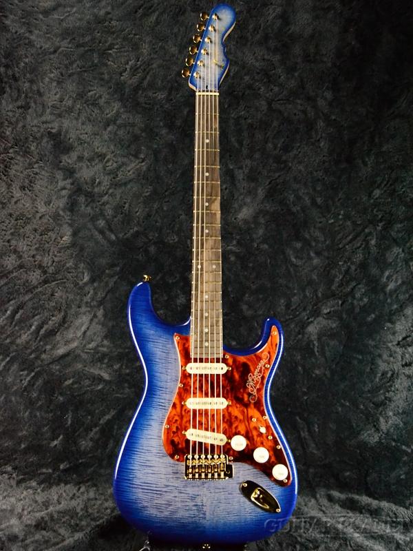 藍BURST 新品[モモセ,百瀬][国産][藍バースト,Blue,ブルー,青][ストラトキャスタータイプ,Stratocaster][Electric Momose MC1-和 Guitar,エレキギター]