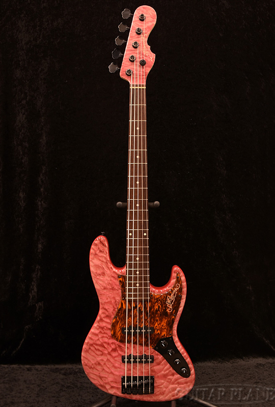 Momose MJ5-EWC/AC-SP17 QM/NJ PNK【限定生産モデル】 新品[モモセ,百瀬][国産][Pink,ピンク][Jazz Bass,ジャズベースタイプ,ジャズベ,JB][Electric Bass,エレキベース]