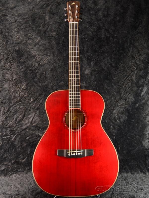 【レーザーバーン】Morris Handmade Premium Series FLB-80 WR ~Worm Red~ 新品[モーリス][国産][ウォーンレッド,赤][Acoustic Guitar,アコースティックギター,Folk Guitar,フォークギター,アコギ]