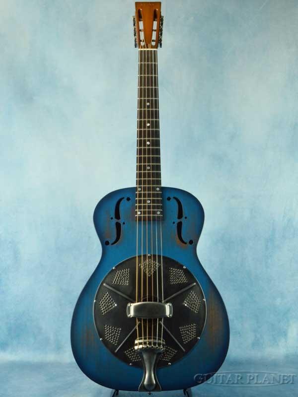 National M-14 Thunder Box Denim Blue #23312 新品[ナショナル][リゾネーター,ドブロ][シングルコーン][デニム,青,ブルー][Mahogany,マホガニー][Acoustic Guitar,アコースティックギター]