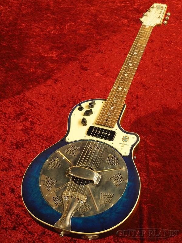 【中古】National Resolectric Blue 2016年製[ナショナル][ブルー,青][Resonator,リゾネーター][ピックアップ搭載][Acoustic Guitar,アコースティックギター,アコギ]【used_アコースティックギター】