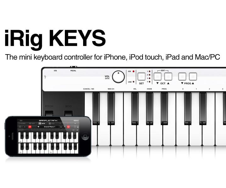 IK Multimedia iRig KEYS IK Multimedia brand new MIDI keyboard Touch/iPad  for iPhone/iPod, [アイリグ], and MIDI Keyboard