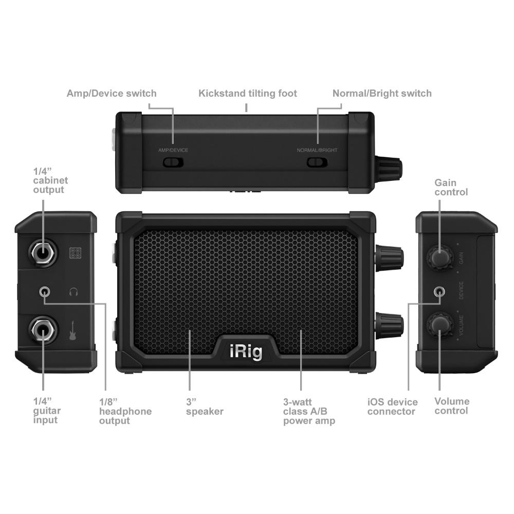 供iRig NANO AMP IK Multimedia新货iPhone/iPod Touch/iPad使用的微·放大器[IK多媒体][airigunanoampu][Combo Amplifier]
