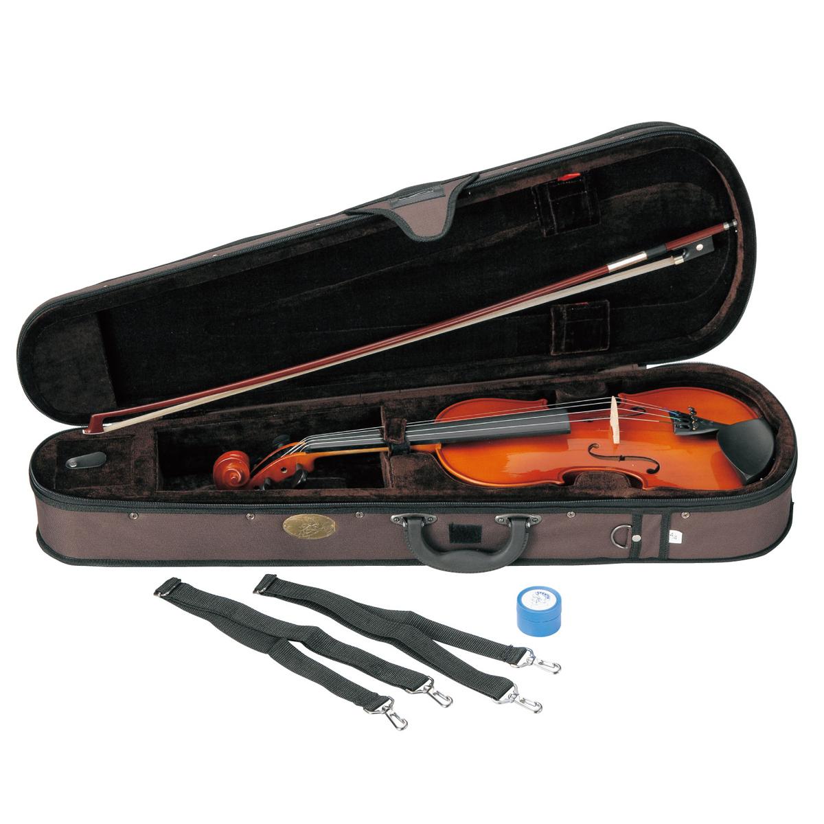 【弓/松脂/ケース付】STENTOR SV-120 1/16 新品 バイオリンセット[ステンター][Violin,ヴァイオリン][初心者/入門用][分数]