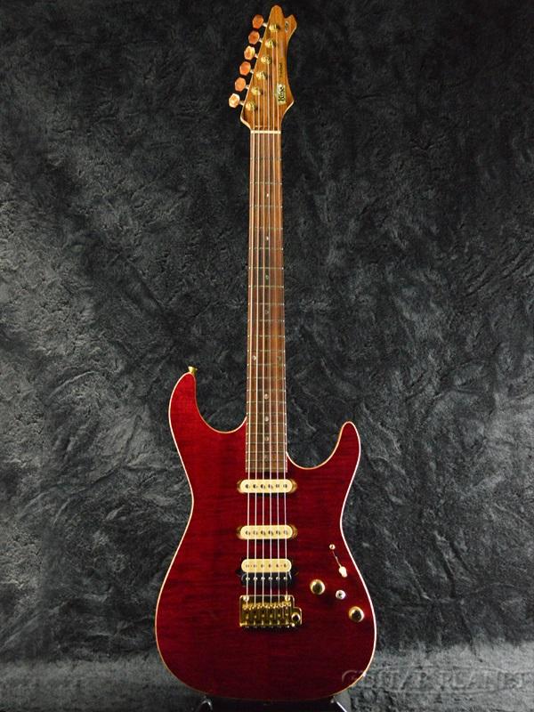 Kino Treebud Dinky 22 FM/MAHO 新品[キノ][国産][Stratocaster,ストラトキャスタータイプ][Red,レッド,赤][Electric Guitar,エレキギター]